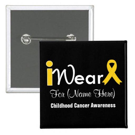 Personnalisez le Cancer d'enfance de ruban d'or Badge