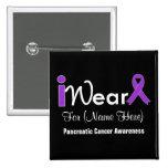 Personnalisez le Cancer pancréatique de ruban pour Pin's