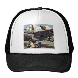 Personnel de piste de Luftwaffe de 2ÈME GUERRE MON Casquettes
