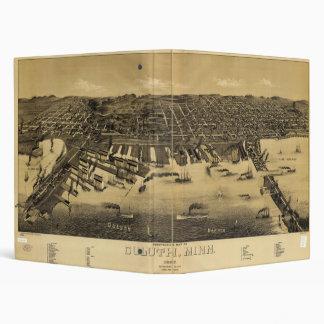 Perspective Map of Duluth Minnesota (1887) Vinyl Binders