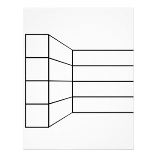 Perspective of a wall- abstract architecture graph letterhead template