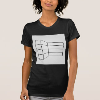 Perspective of a wall- abstract architecture graph T-Shirt