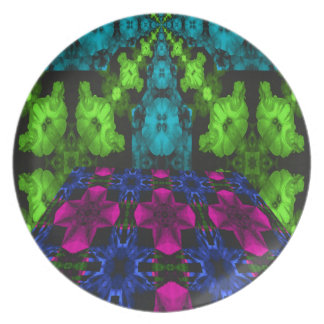 PERSPECTIVE PETUNIA PARTY PLATE