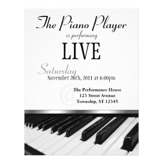 Perspective Piano Keys Performance Announcement Flyer Design