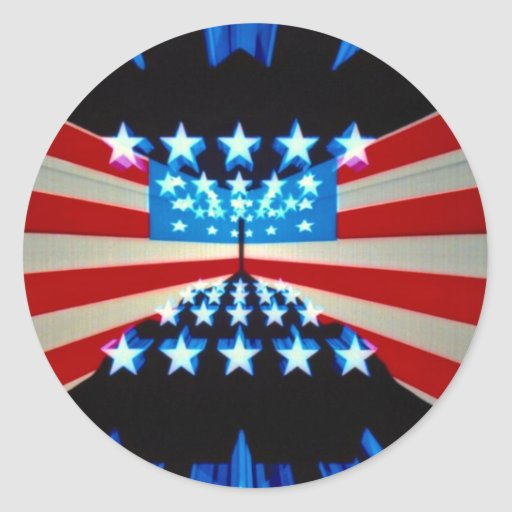 Perspective U.S. flag maps Stickers