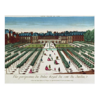 Perspective view of the Palais Royal Postcard