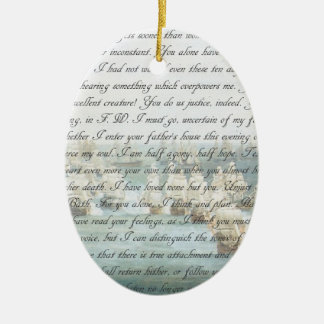 Persuasion Letter customisable Ceramic Oval Ornament