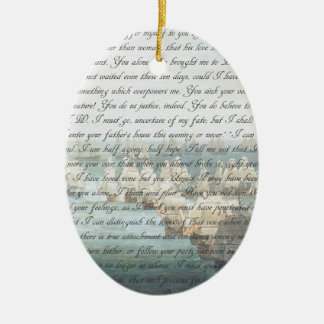 Persuasion Letter double-sided Ceramic Oval Ornament
