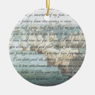 Persuasion Letter Round Ceramic Ornament