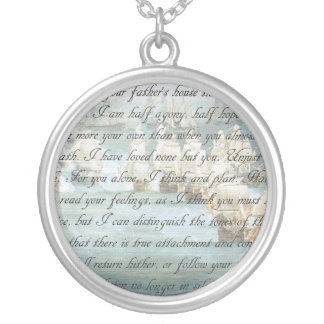 Persuasion Letter Silver Plated Necklace
