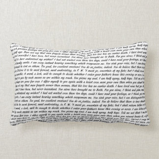 Persuasion Text Double-Sided Lumbar Pillow