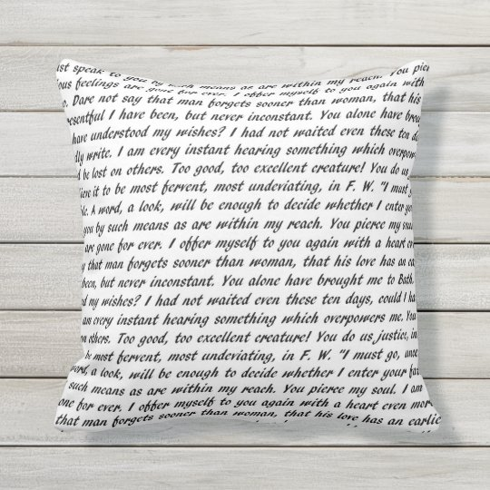 Persuasion Text Double-Sided Outdoor Pillow