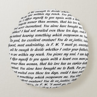 Persuasion Text Double-Sided Round Pillow