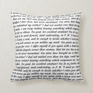 Persuasion Text Double-Sided Throw Pillow