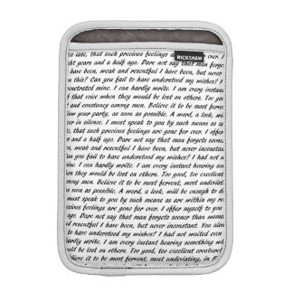 Persuasion Text iPad Mini Sleeve