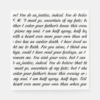 Persuasion Text Napkin
