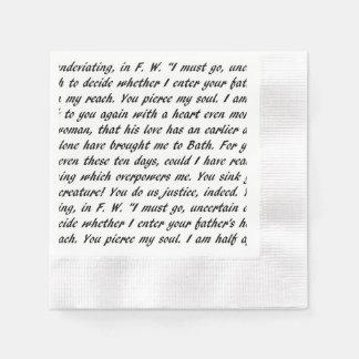 Persuasion Text Paper Napkin
