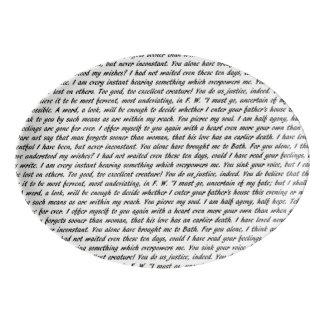 Persuasion Text Porcelain Serving Platter