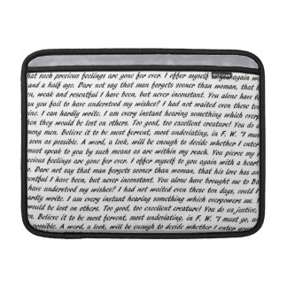 Persuasion Text Sleeve For MacBook Air