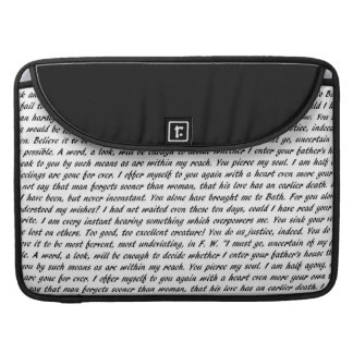 Persuasion Text Sleeve For MacBook Pro