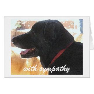 Perte de chien - sympathie d'animal familier cartes de vœux