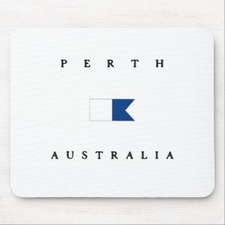 Perth Australia Alpha Dive Flag Mousepads