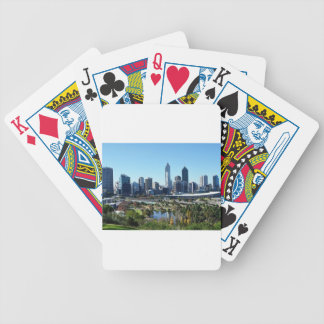 Perth Australia Skyline Bicycle Playing Cards
