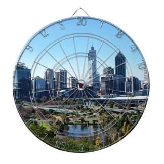Perth Australia Skyline Dartboard