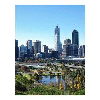 Perth Australia Skyline Letterhead