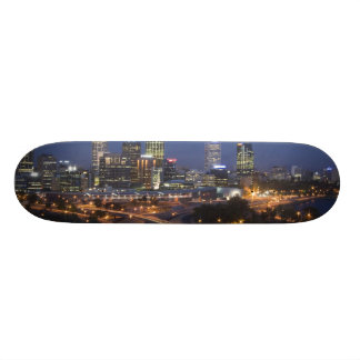 Perth, Australia. View of downtown Perth from Skate Board Deck