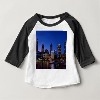 Perth Night Skyline Baby T-Shirt