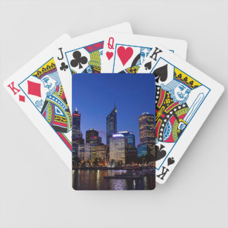 Perth Night Skyline Bicycle Playing Cards