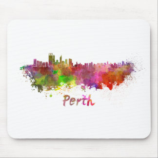 Perth skyline in watercolor tapete de ratón