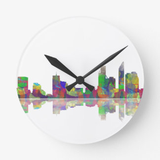 Perth  WA Skyline Round Clock