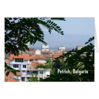 Pertich, Bulgaria Card