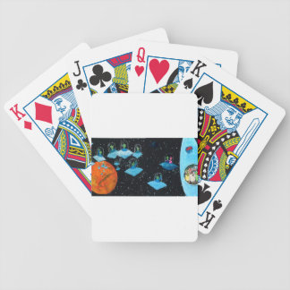 Perturbed Martians and some Cows Bicycle Playing Cards