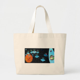 Perturbed Martians and some Cows Large Tote Bag