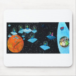 Perturbed Martians and some Cows Mouse Pad