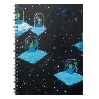 Perturbed Martians and some Cows Spiral Notebook