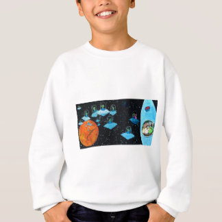 Perturbed Martians and some Cows Sweatshirt