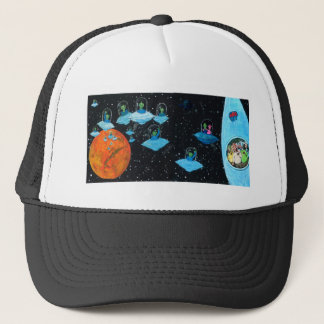 Perturbed Martians and some Cows Trucker Hat