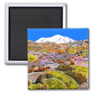 Peru Andes Mountain View #1 Square Magnet