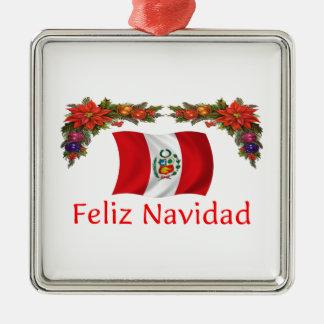 Peru Christmas Metal Ornament
