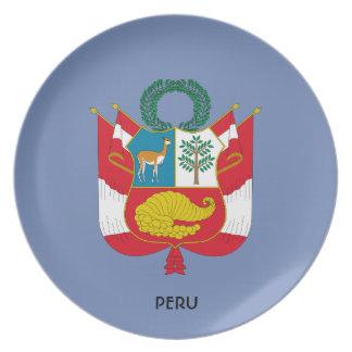 Peru Coat of Arms Collectors Plate
