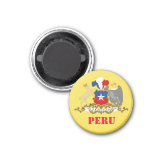 Peru Coat of Arms Kitchen Magnet