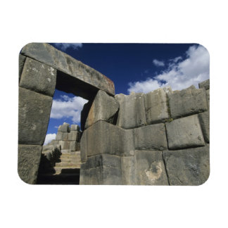 Peru, Cuzco, Sacsayhuaman fortress, good example Rectangular Photo Magnet