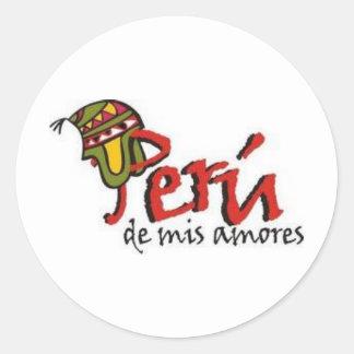 PERU DE MIS AMORES CLASSIC ROUND STICKER