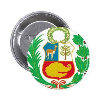 Peru - Escudo Nacional (National Emblem) 2 Inch Round Button