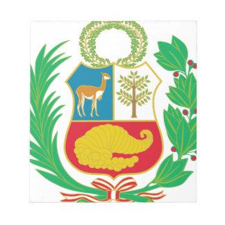 Peru - Escudo Nacional (National Emblem) Notepad