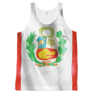 Peru Flag All Over Print Tank Top